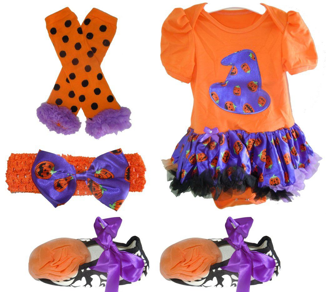 baby headbands halloween set with princess tutu leg warmers booties headband purple