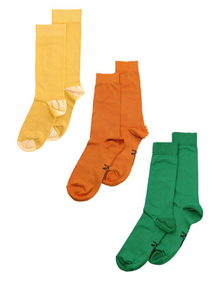 Nick Harry Colour Sock Pack 3 - Yellow, Green & Orange Socks (Size: Loading  zoom - Nic Harry Nick Harry Colour Sock Pack 3 - Yellow, Green & Orange