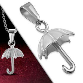 Jewelworx Stainless Steel Umbrella Charm Pendant