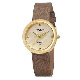Akribos XXIV Women's Impeccable Gold-Tone Watch AK687YG