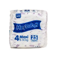Hey Baby - 100 Nappies Or Diapers - Size 4 (25x4 Packets)