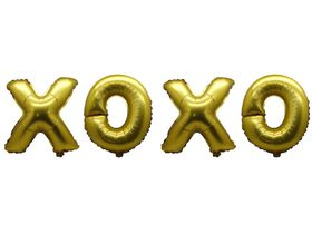 "Bright Gold Foil Letter Balloon 40"" - XOXO"