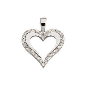 White Gold Elegant Heart Pendant