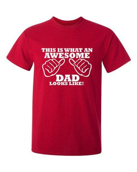 This Is What An Awesome Dad Looks Like Men's T-Shirt - Red