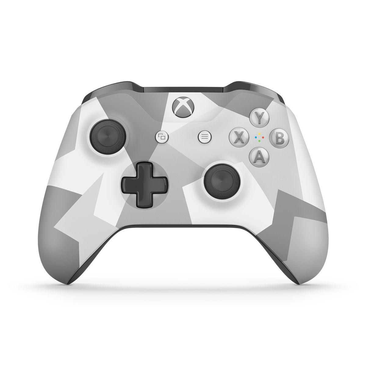 Xbox One Wireless Controller - White/Grey Camo (Xbox One). Loading zoom