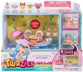 Twozies Twogether Playset - Too Sweet Row Boat