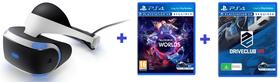 Playstation VR + Driveclub VR + VR Worlds (PSVR)