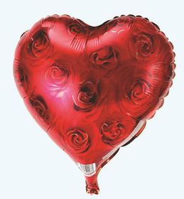 Roses red heart foil balloon