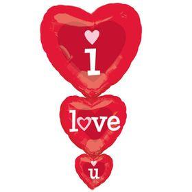I Love You foil balloon Hearts