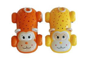Monkey Racing Car with lights and music - Yellow and Orange set