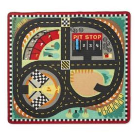 Melissa & Doug Round The Speedway Race Track Rug