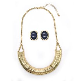 Lily & Rose TLSET077 Yellow Gold Plated Half Round Linear Neckpiece