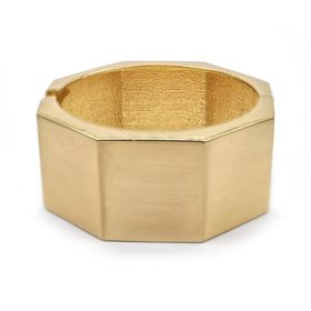 TLBR007 Lily & Rose Yellow Gold Plated Geometric Bangle