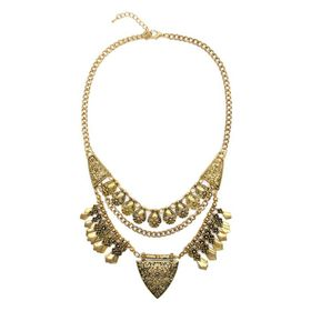 TLN057 Lily & Rose Yellow Gold Plated Bohemian Style Necklace