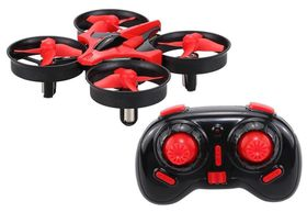 Foda R/C 2.4GHz 8.3cm Mini Quadcopter - Red/Black