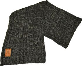 Jeep Knitted Scarf - Black/Grey