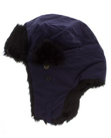 Jeep Faux Fur Lined Beanie - Military Blue