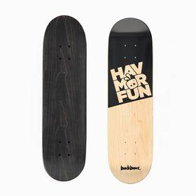 Bun&Bunee HAVMORFUN Deck - Black/Wood