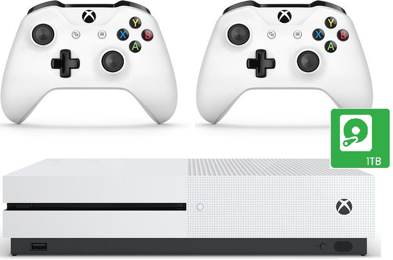 Consoles - Xbox One S 1TB Console + Extra Wireless