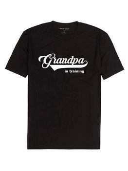 Grandpa In Training Men's T-Shirt - Black