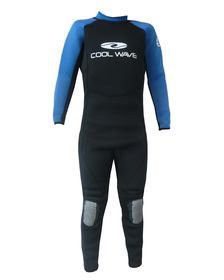 Coolwave Teen Full Wetsuit - Blue And Black