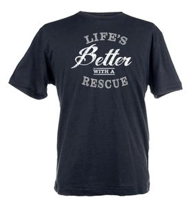 Life's Better with a Rescue Unisex Short Sleeve T-Shirt - Black