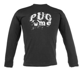 Pug Me Unisex Long Sleeve T-Shirt - Black