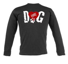 Dog Love Unisex Long Sleeve T-Shirt - Black