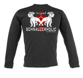 Schnauzerholic Unisex Long Sleeve T-Shirt - Black