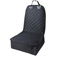 Dog Seat Cover for Cars Waterproof Pet Bucket Front Seat Cover Nonslip Backing - Black
