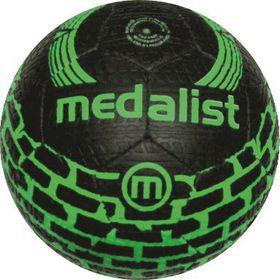 Medalist Street Soccer Ball Size 5 - Black/Green