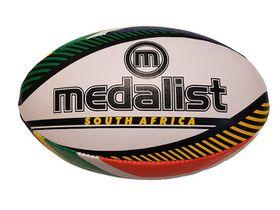 Medalist SA Flag Rugby Ball (Size:5)