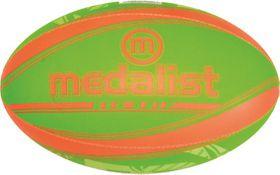 Medalist Neo Grip Rugby Ball Size 4 - Green/Orange