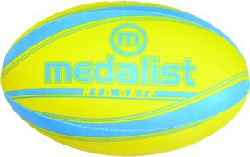 Medalist Neo Grip Rugby Ball Size 5 - Blue/Yellow