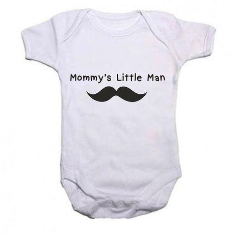 1c076115ced4 Mommy s Little Man Baby Grow  Onesie - White