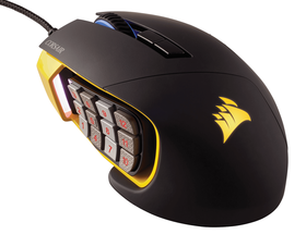 Corsair Scimitar RGB MoBA/MMo Optical Gaming Mouse - Black with Yellow