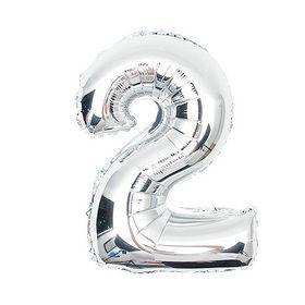 """Silver Foil Balloon 2 (Size: 35"""" x 45"""")"""