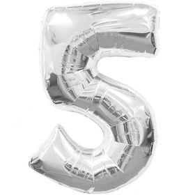 """Silver Foil Balloon 5 (Size: 35"""" x 45"""")"""