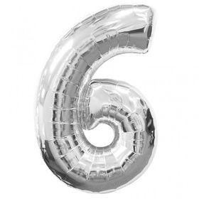 """Silver Foil Balloon 6 (Size: 35"""" x 45"""")"""