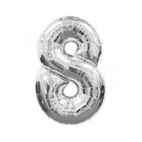 """Silver Foil Balloon 8 (Size: 35"""" x 45"""")"""