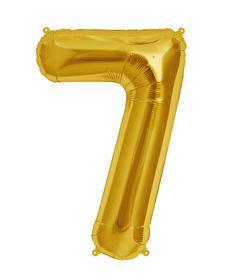 "Gold Foil Balloon 7 (Size: 35"" x 45"")"