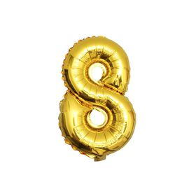 "Gold Foil Balloon 8 (Size: 35"" x 45"")"