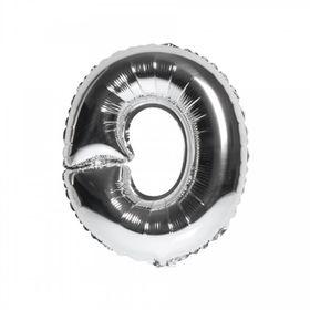Silver foil balloon O (Size: 98 cm x 93 cm)
