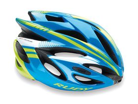 Rudy Project Rush Helmet Blue/Lime - (Size: S)