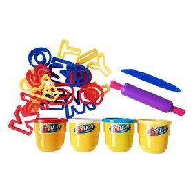 Educational Creative Play Dough with Alphabet Templates