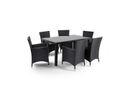 Cielo - Nevada 7 Piece Patio Dining Set - Black