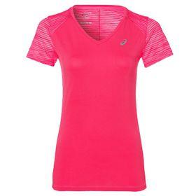 Women's ASICS Fuzex V-Neck Short Sleeve Top