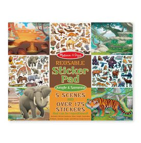 Melissa & Doug Reusable Sticker Pad - Jungle and Savanna