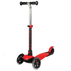 Zycomotion - Zycom Zing 3-Wheel Scooter with Light Up Wheels - Red/Black