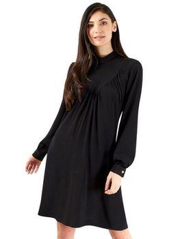 Closet London - Black High Collar Neck Dress